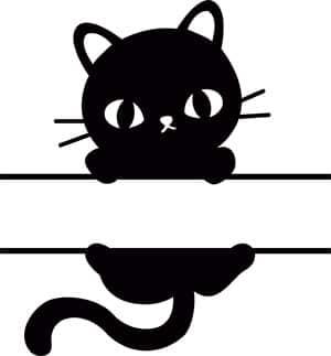Free Cat Monogram SVG