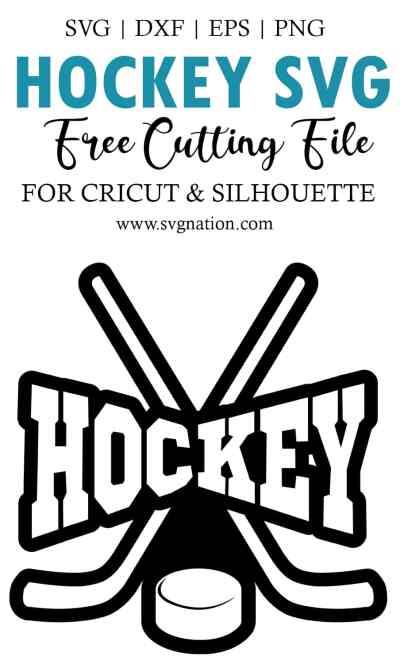 free hockey svg cut file