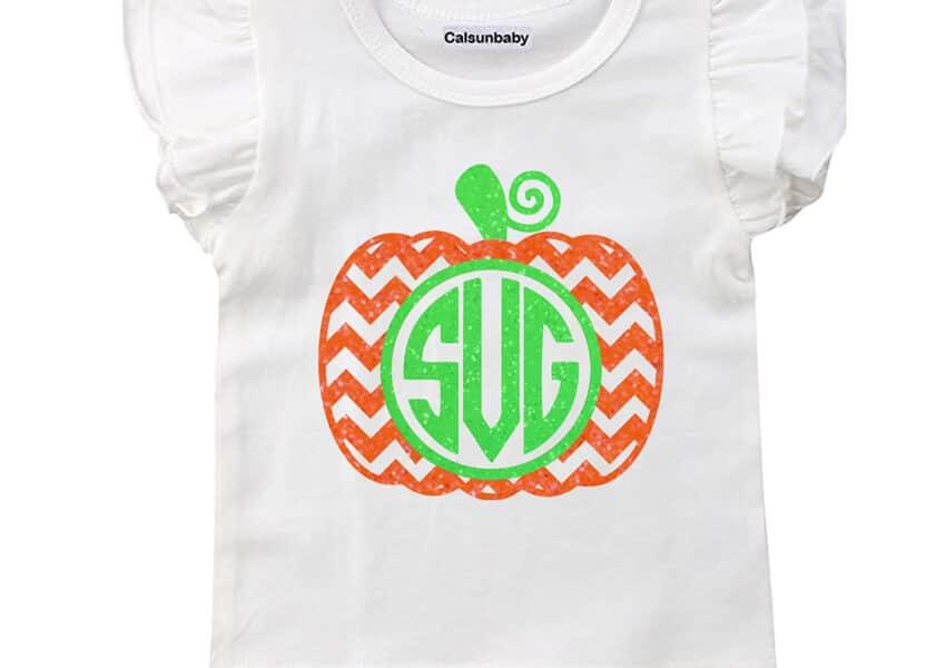 Pumpkin Monogram Free SVG