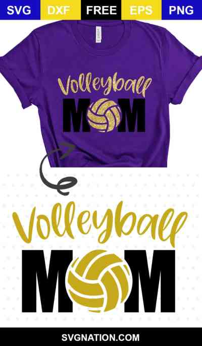 volleyball mom svg cut file