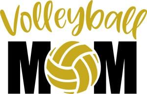 volleyball mom free svg