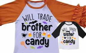 will trade brother for candy free Halloween svg