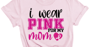I Wear Pink for My mom Free SVG