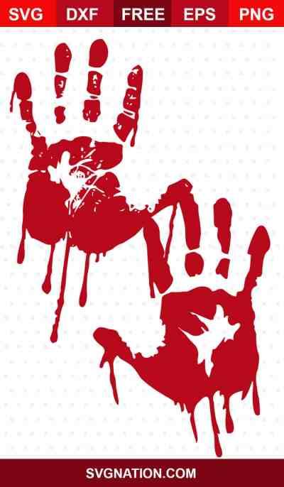 bloody handprints svg