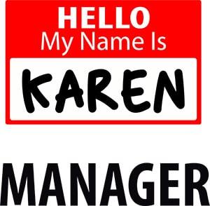 Hello My Name is Karen Free SVG