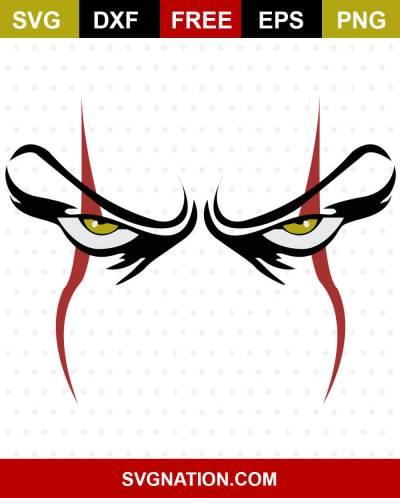 Scary Clown Eyes SVG File