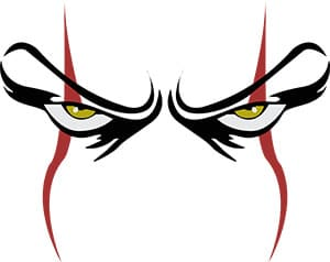 Scary Clown Eyes Free SVG File