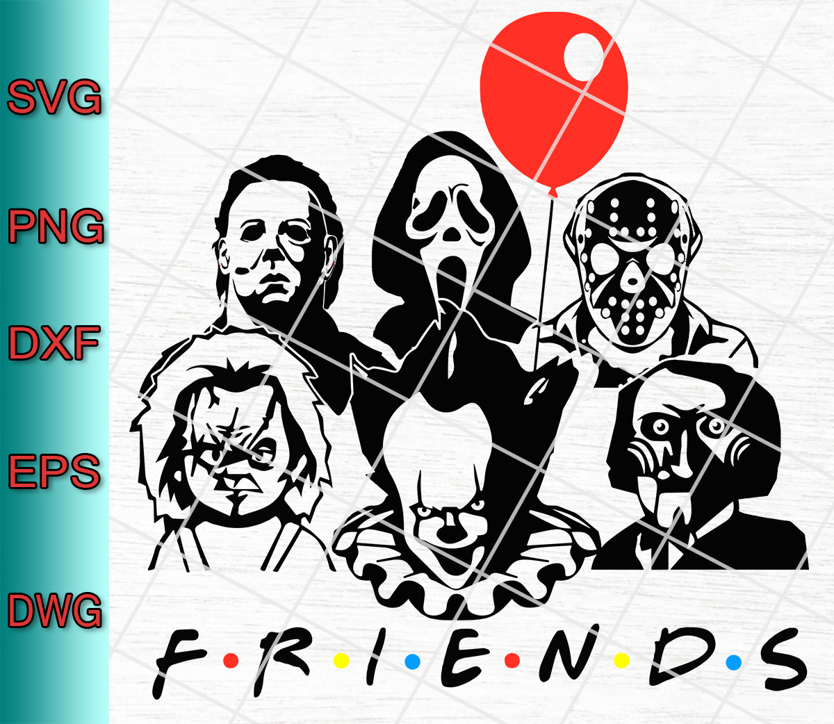 Download Friends Horror Movie Creepy Halloween Svg Png Eps Dxf ...