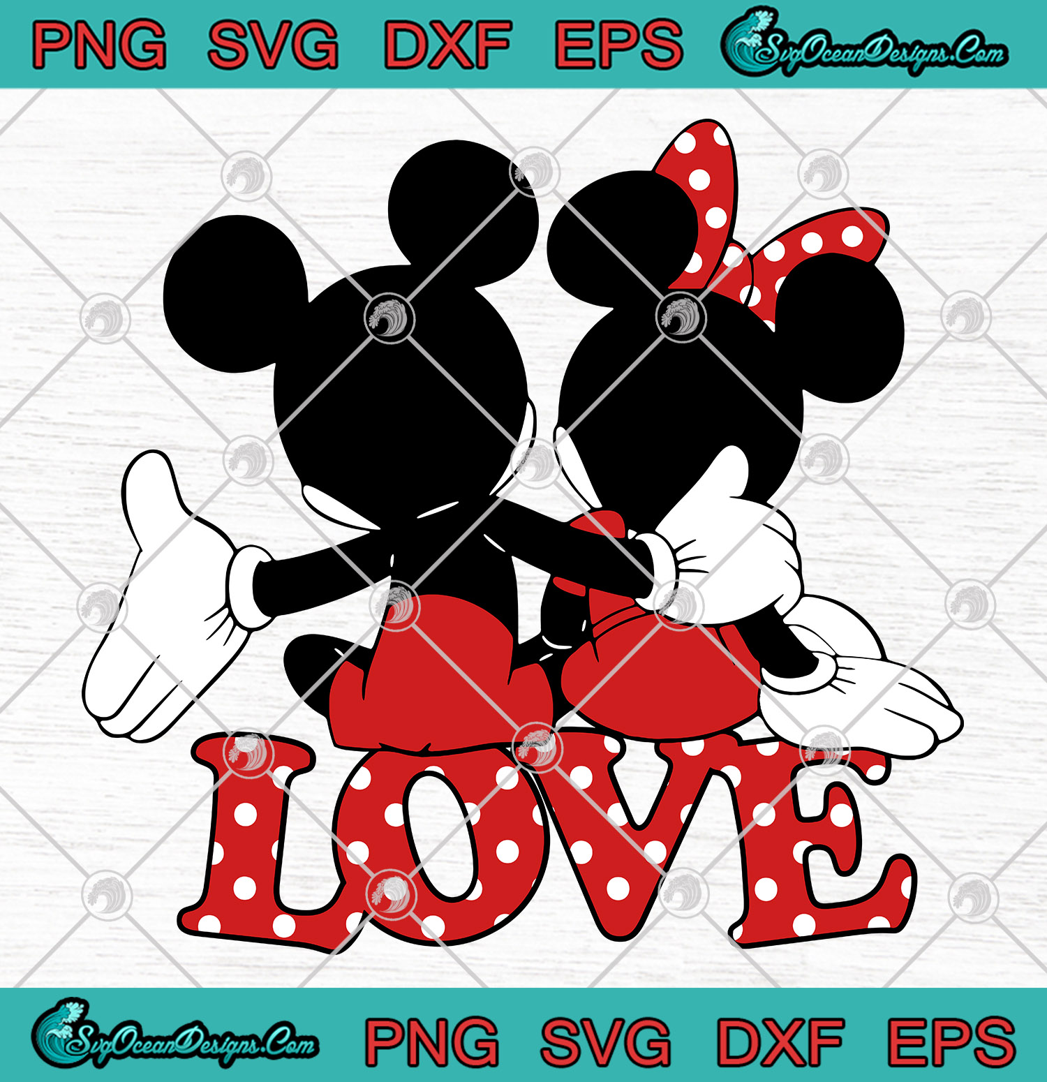 Download Disney Valentines Mickey Minnie Love Hug Cute SVG PNG EPS ...