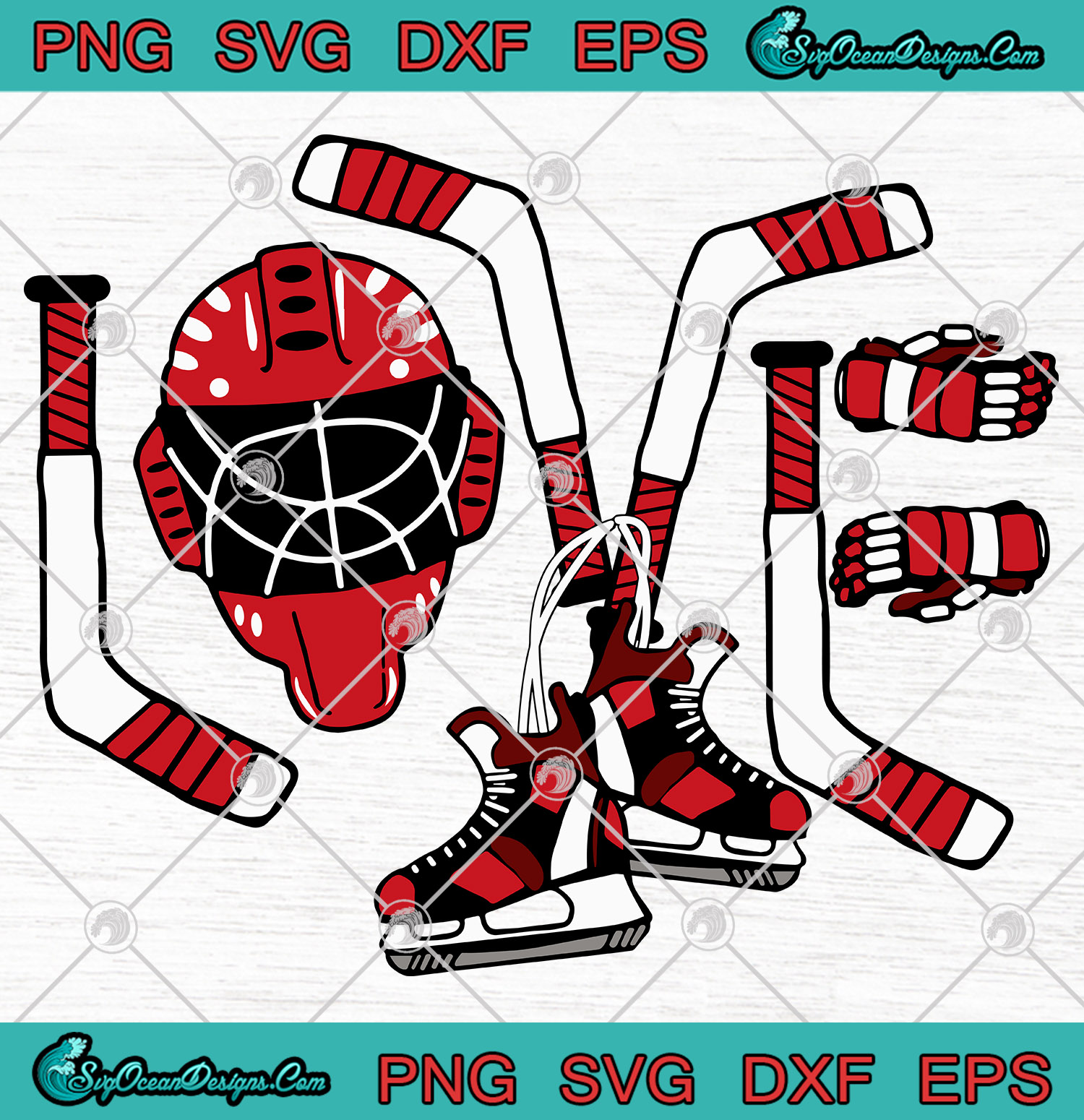Download Ice Hockey Valentines Day Love Cute SVG PNG EPS DXF vector ...