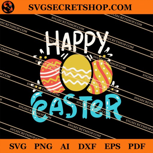 Easter Eggs Happy Easter SVG