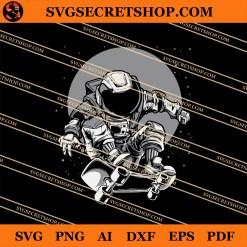Astronaut Skateboard SVG