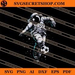 Astronaut Soccer SVG