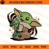Baby Yoda Hug Frog SVG