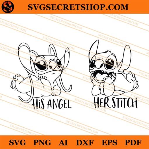 Her Stitch His Angel SVG