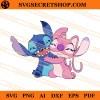 Stitch And Angel Hugging SVG