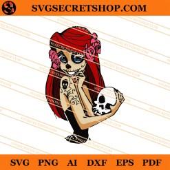 Ariel Sugar Skull Mermaid SVG