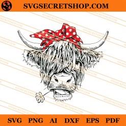 Heifer With Flower SVG