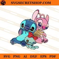 Stitch And Angel SVG