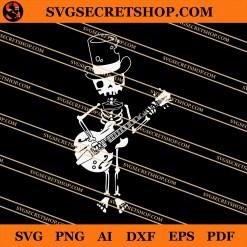 Skeleton Playing Guitar SVG