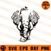 Elephant Zentangle SVG