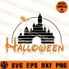 Halloween Disney Castle SVG