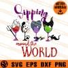 Sipping Around The World Villains Disney SVG