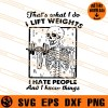 Lift Weights Skeleton SVG