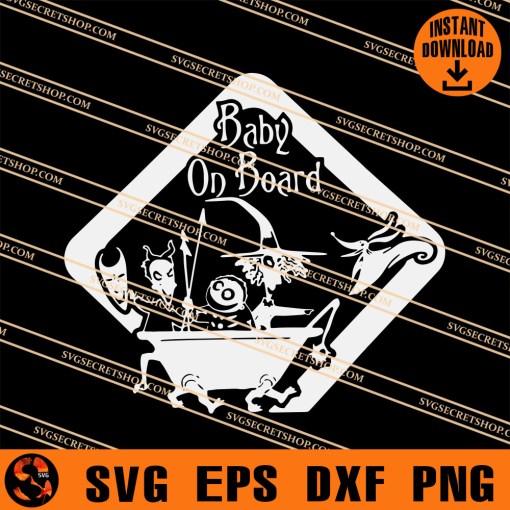 Baby On Board Halloween SVG