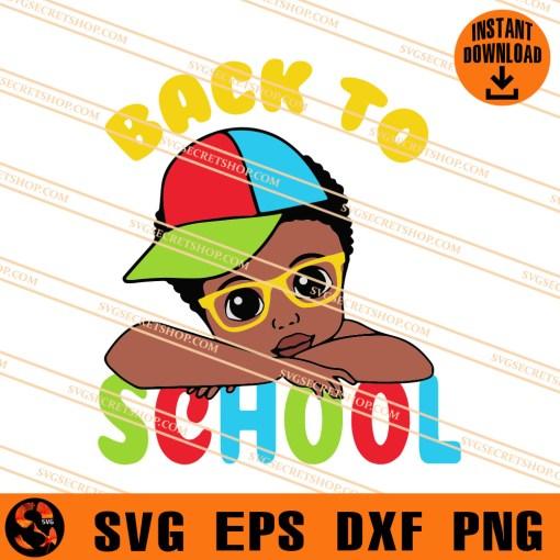 Back To School Boy SVG