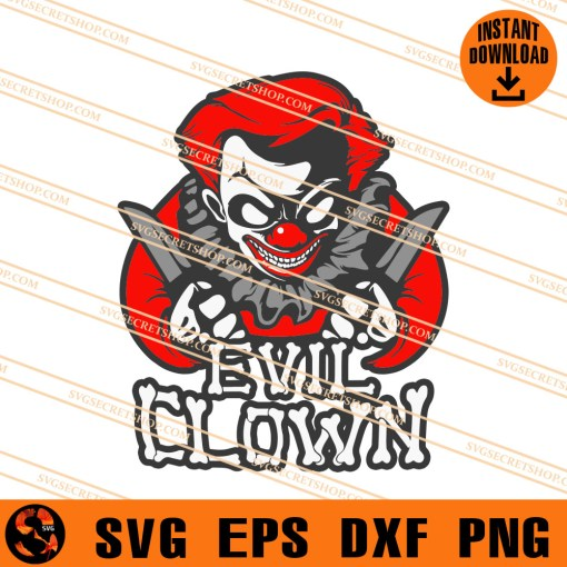 Evil Clown SVG