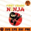 First Grade Ninja SVG