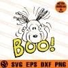 Snoopy Boo SVG