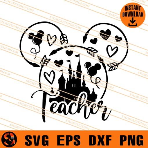 Teacher Disney SVG