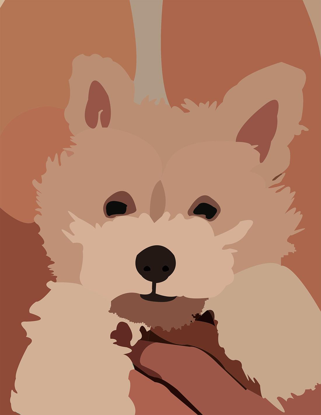 tegning,hund
