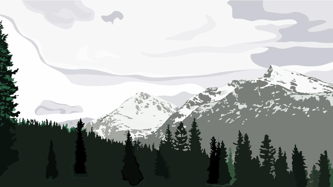 tegning,landskap