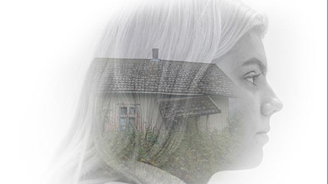 kvinne,hus