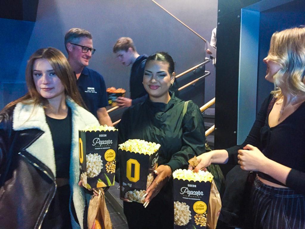 kino,elever,popcorn