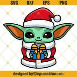 Baby Yoda Star Wars Christmas Svg Png Dxf Eps Cut Files Clipart Cricut Baby Yoda Svg Svgsunshine