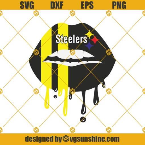 Pittsburgh Steelers Lips Svg, Pittsburgh Steelers Svg, Pittsburgh Steelers Football Svg