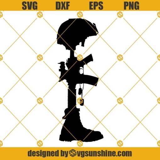 Battle Cross Svg, Battlefield Cross Svg, Fallen Soldier Battle Cross Svg, Military Battle Cross Svg, Combat Cross Svg