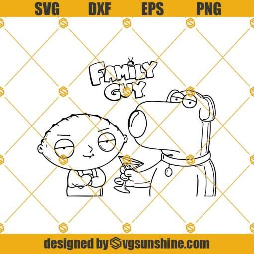 Brian Griffin Svg, Stewie Griffin Svg, Family Guy Svg