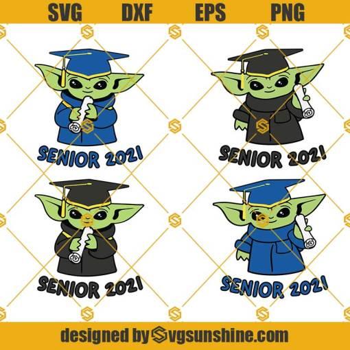Baby Yoda Graduation Svg, Graduation 2021 Svg, Senior 2021 Svg
