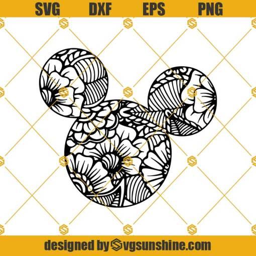 Mickey Mouse Mandala Silhouette Svg, Disney Svg
