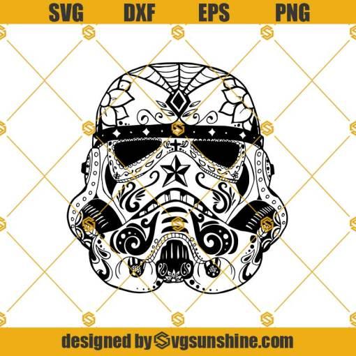 Stormtrooper Sugar Skull Svg, Stormtrooper Svg