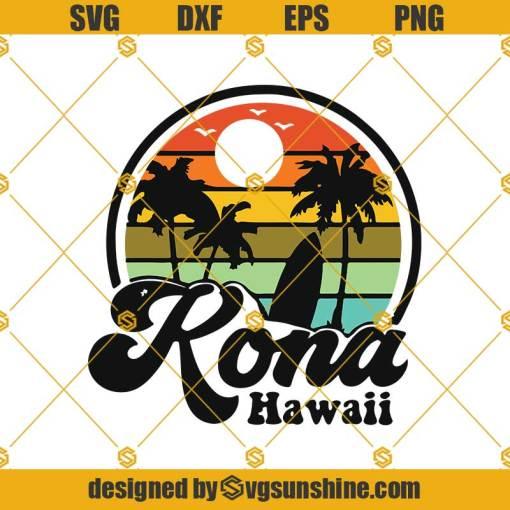 Vintage Kona Beach Hawaii Surf Svg, Hawaiian Surfing Svg