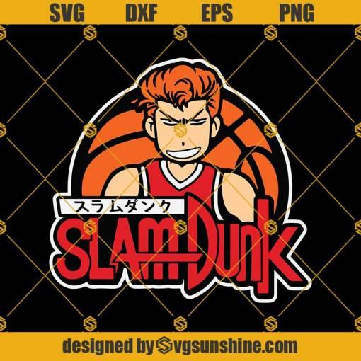 Anime Slam Dunk Basketball Svg, Basketball Svg, Slam Dunk Svg