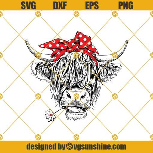 Not Today Heifer Svg, Cow Svg, Funny Farm Animal Svg, St Patrick's Day Svg, Patrick Day Svg, Highland Cow Svg