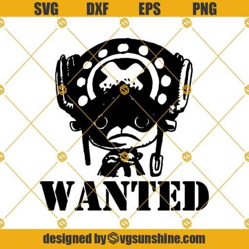 Chopper Wanted One Piece Anime Svg, Chopper Svg, Anime Svg