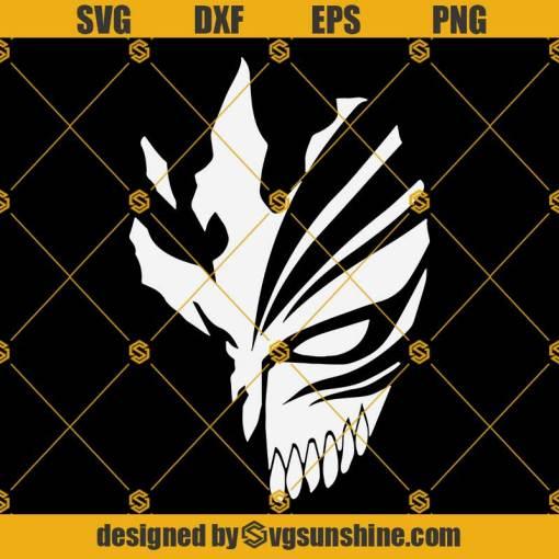 Mask Hollow Bleach Svg, Bleach Anime Svg, Hollow Mask Svg